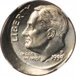 Lot of (4) Mint State 1999-P Roosevelt Dimes Mint Errors. (NGC).
