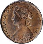GREAT BRITAIN. 1/2 Penny, 1860. London Mint. Victoria. PCGS MS-64 Red Brown Gold Shield.