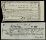 Connecticut Continental Line Note, and Colony of New Hampshire 1775 Reprint. Connecticut June 1, 178