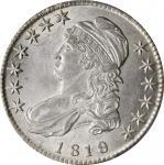 1819/8 Capped Bust Half Dollar. O-105. Rarity-2. Large 9. AU-58 (PCGS).