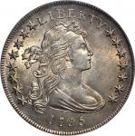 1795 Draped Bust Silver Dollar. BB-51, B-14. Rarity-2. Off-Center Bust. MS-62 (PCGS).