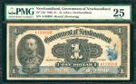 1920年加拿大新大陆政府一元 PMG VF 25