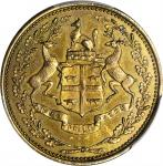 CANADA. Hudson Bay Company. 1 Made Beaver Token, ND (ca. 1857). PCGS MS-62 Gold Shield.