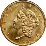 1865 Liberty Head Double Eagle. MS-65 (NGC).