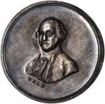 Undated (ca. 1835) Washington and Franklin Medalet by Bale. Silver. 21 mm. Musante GW-146, Baker-201