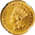 1887 Three-Dollar Gold Piece. VP-001. Doubled Die Obverse. MS-62 (NGC).