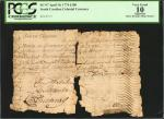 SC-97. South Carolina. April 10, 1774. 100 Pounds. PCGS Currency Very Good 10 Apparent. Splits, Dama