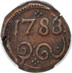 1783年锡兰2元。PCGS EF-40 Secure Holder.