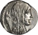 ROMAN REPUBLIC. L. Hostilius Saserna. AR Denarius (4.12 gms), ca. 48 B.C.