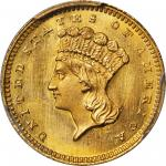 1865 Gold Dollar. MS-67 (PCGS). CAC.