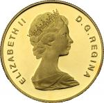 World Coins, Canada.  Elizabeth II (1952 -). 100 dollars 1979. Fr. 10 16.92 g.  27 mm.  优美