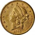 1863-S Liberty Head Double Eagle. MS-60 (PCGS).