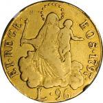ITALY. Genoa. 96 Lire, 1797. NGC VF-25.