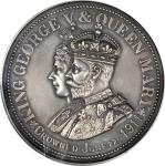 GREAT BRITAIN. George V & Mary Coronation Silvered Bronze Medal, 1911. PCGS MATTE SPECIMEN-64 Gold S