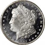 1881-CC GSA Morgan Silver Dollar. MS-65 DPL (NGC).