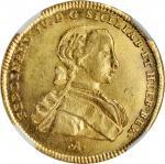 ITALY. Naples & Sicily. 6 Ducati, 1763-IA CC R. Naples Mint. Ferdinand IV. NGC MS-65.