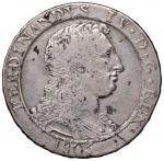 Italian coins;NAPOLI Ferdinando IV (1799-1805) Piastra 1805 - Magliocca 392 AG (g 27.45) - qBB;80