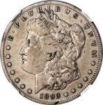 1893-S Morgan Silver Dollar. Fine-15 (NGC).