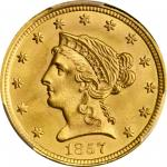 1857 Liberty Head Quarter Eagle. MS-66+ (PCGS). CAC.