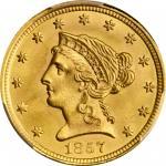 1857 Liberty Head Quarter Eagle. MS-66+ (PCGS). CAC.