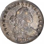 1807 Draped Bust Half Dollar. O-102, T-8. Rarity-2. EF-45+ (NGC). CAC.