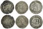 Edward VI (1547-53), coinage in the name of Henry VIII, Groats (3), all Tower mint, 2.19g, m.m. k/-,