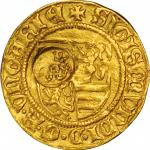 ITALY. Italy - Hungary. Milan. Goldgulden with Biscione Civic Countermark, ND (ca. late-17th Century