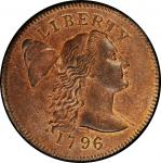 1796 Liberty Cap Cent. Liberty Cap. Sheldon-84. Liberty Cap. Rarity-3. Mint State-66+ RB (PCGS).