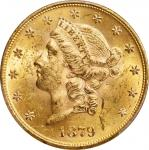 1879 Liberty Head Double Eagle. MS-61 (PCGS). CAC.