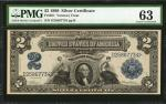 Fr. 251. 1899 $2 Silver Certificate. PMG Choice Uncirculated 63.