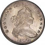 1800 Draped Bust Silver Dollar. Bowers Borckardt-193, Bolender-13. Rarity-3. Mint State-64 (PCGS).