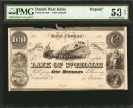 DANISH WEST INDIES. Bank of St. Thomas. 100 Dollars, 18xx. P-11RP. Reprint. PMG About Uncirculated 5