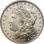 1887-O Morgan Silver Dollar. MS-66 (PCGS).