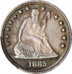 1885 Liberty Seated Quarter. Proof-66 (PCGS).