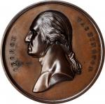 Undated (ca. 1857) Tomb of Washington Medal by Smith and Hartmann. Musante GW-207, Baker-117A. Bronz