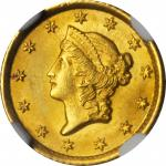 1853-O Gold Dollar. Winter-1. MS-65 (NGC).