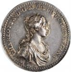 GREAT BRITAIN. Charlotte Coronation Silver Medal, 1761. London Mint. PCGS AU-55 Gold Shield.
