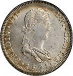 MEXICO. War of Independence. 8 Reales, 1821-Ga FS. Guadalajara Mint. Ferdinand VII. PCGS MS-62 Gold