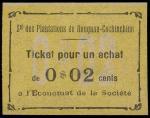 法属南圻2分(无日期),于种植园发行的紧急票,UNC品相,罕品