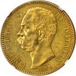 ITALY. 100 Lire, 1883-R. NGC MS-60.
