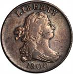1800 Draped Bust Half Cent. C-1, the only known dies. Rarity-1. VF-20 Scratched, Cleaned.