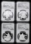 1995年《三国演义》系列(第1组)纪念银币27克全套4枚 NGC