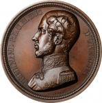 BELGIUM. Memorial Bronze Medal, 1842. UNCIRCULATED.