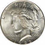1922-S Peace Silver Dollar. MS-65 (PCGS).
