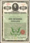 1935美国100元国库债券 极美