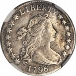 1796 Draped Bust Dime. JR-4. Rarity-4. VF Details--Repaired (NGC).