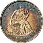 1861-O Liberty Seated Half Dollar. Confederate States Issue. W-11, FS-401. Rarity-3. Cracked Obverse