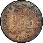 1821 Capped Bust Dime. John Reich-2. Rarity-6+. Large Date. Mint State-66 (PCGS).