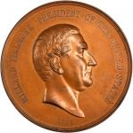 1850 Millard Fillmore Indian Peace Medal. First Size. Bronzed Copper. 76 mm. By Salathiel Ellis and