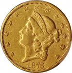 1875-CC Liberty Head Double Eagle. EF Details--Cleaned (PCGS).